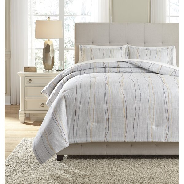 Sadie 100% Cotton Reversible Comforter Set by Langley Street